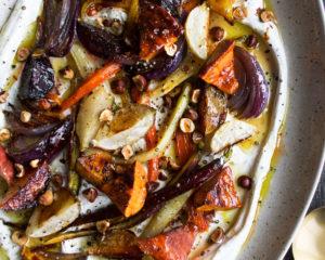 Honey Roasted Winter Vegetables