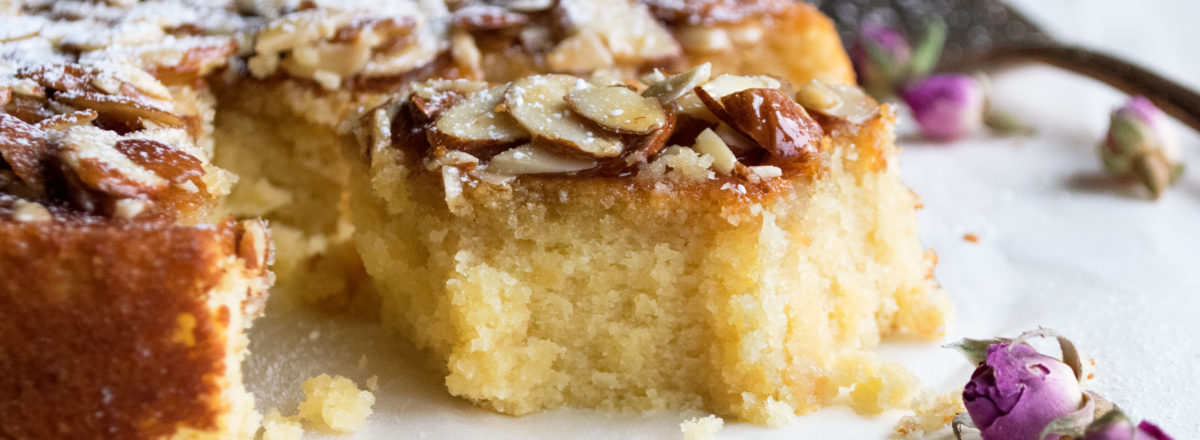 Honey Soaked Almond Cake