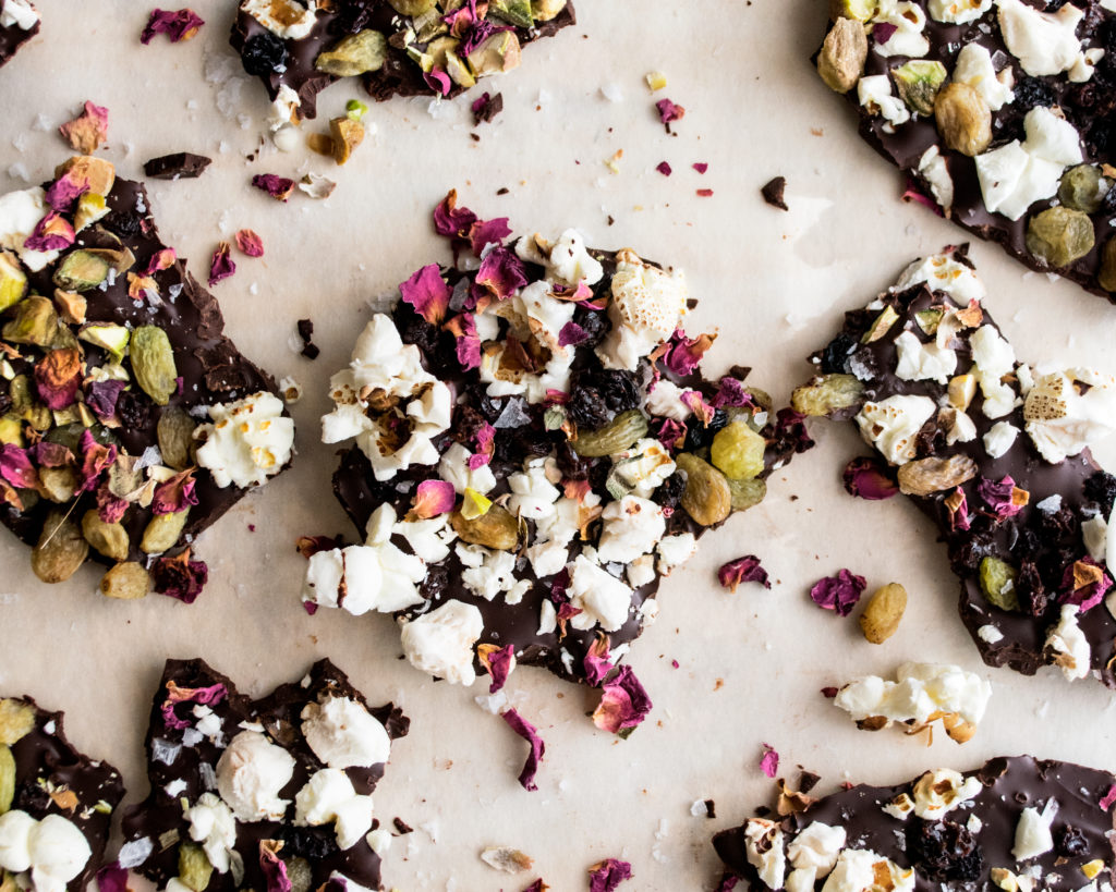 Movie Night Popcorn Chocolate Bark