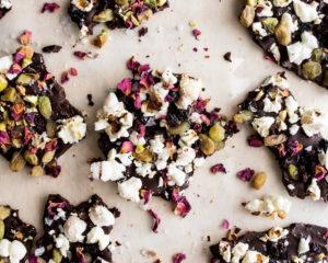 Movie Night Popcorn Chocolate Bark