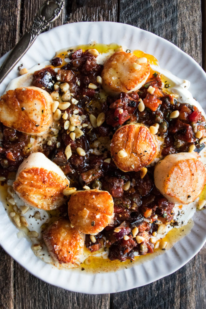Seared Scallops with Caponata