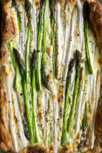 Asparagus Tart up-close shot