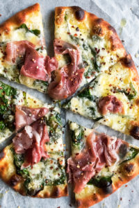 Fontina Spinach Pizza