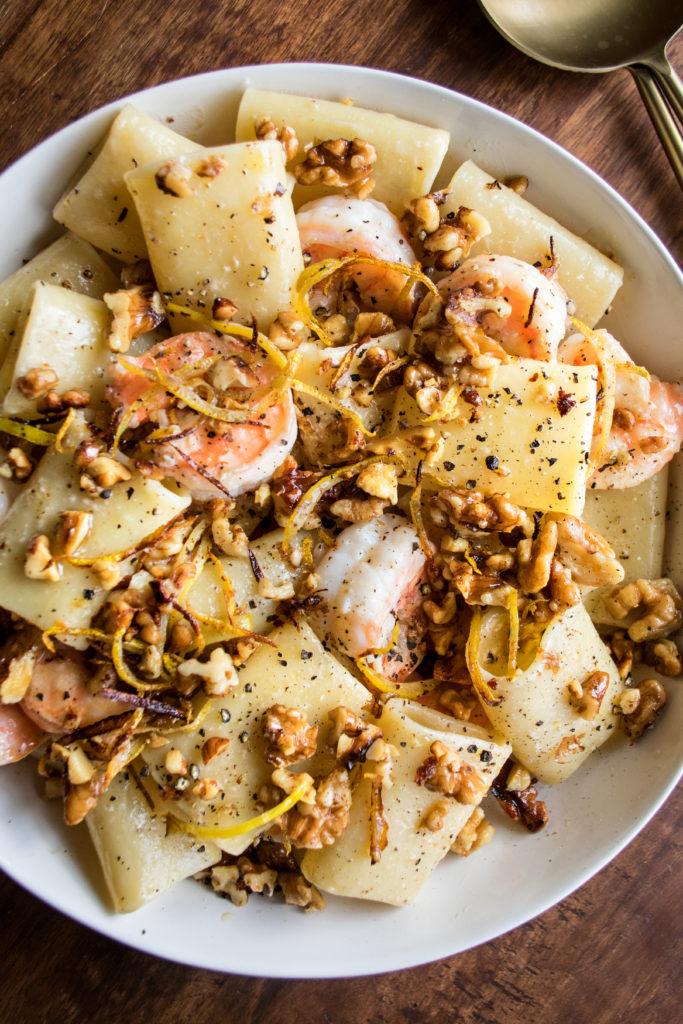Lemon Butter Shrimp Pasta