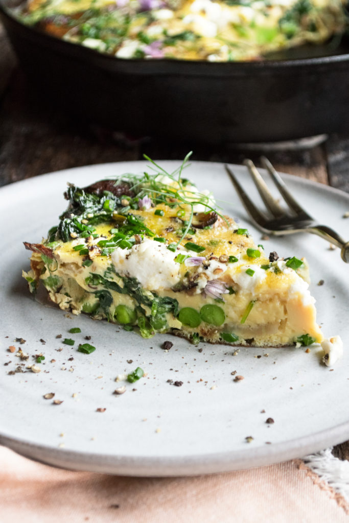 Garden Frittata with Goat Cheese & Potatoes
