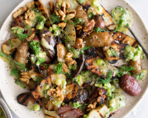 Grilled Potatoes with Scallion Vinaigrette