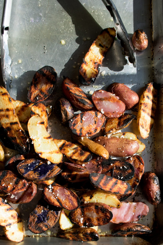 grilled potatoes right off the grill