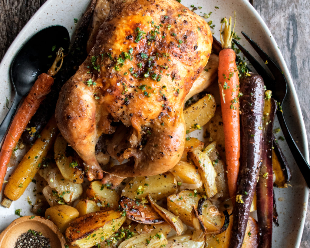 Salt & Pepper Roast Chicken Dinner