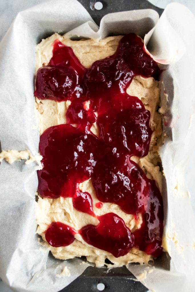 strawberry jam layer