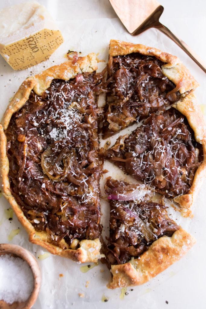 Parmesan & Caramelized Onion Crostata