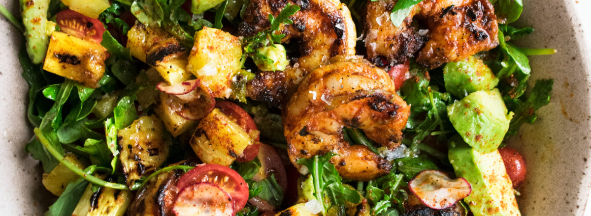 Spicy Grilled Shrimp Salad