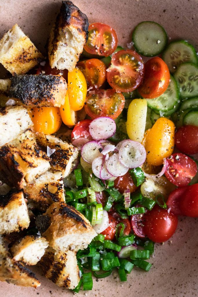Grilled Chicken with Garden Panzanella