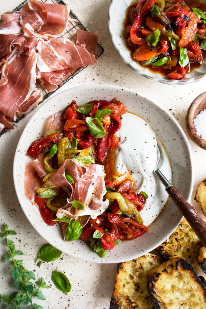 Marinated Peppers & Prosciutto