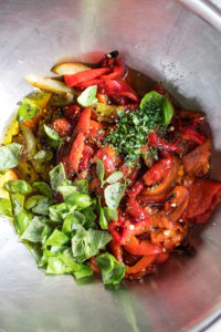peppers marinating