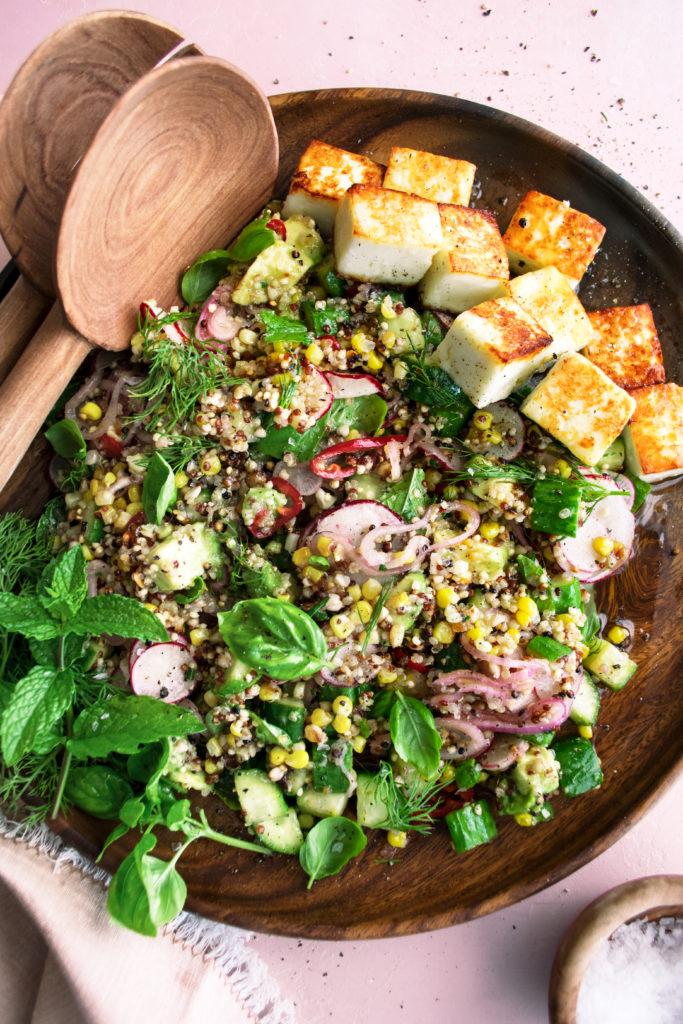 Pan-Fried Paneer Salad