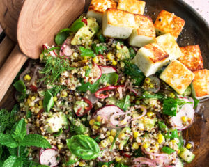 Pan-Fried Paneer Salad