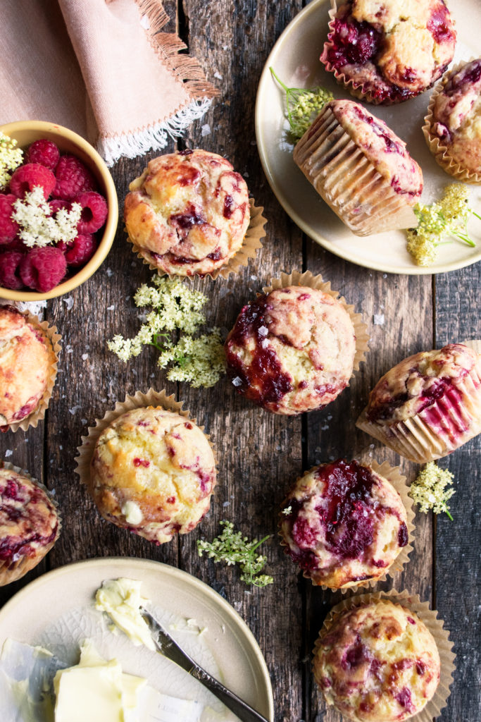 Raspberry Lemon Ricotta Muffins