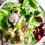 Summer Garden Green Goddess Salad