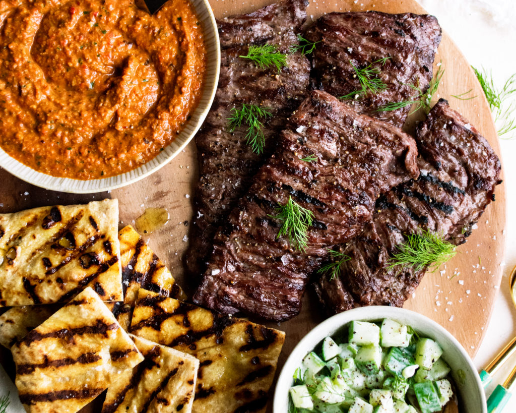 Skirt Steak with Romesco