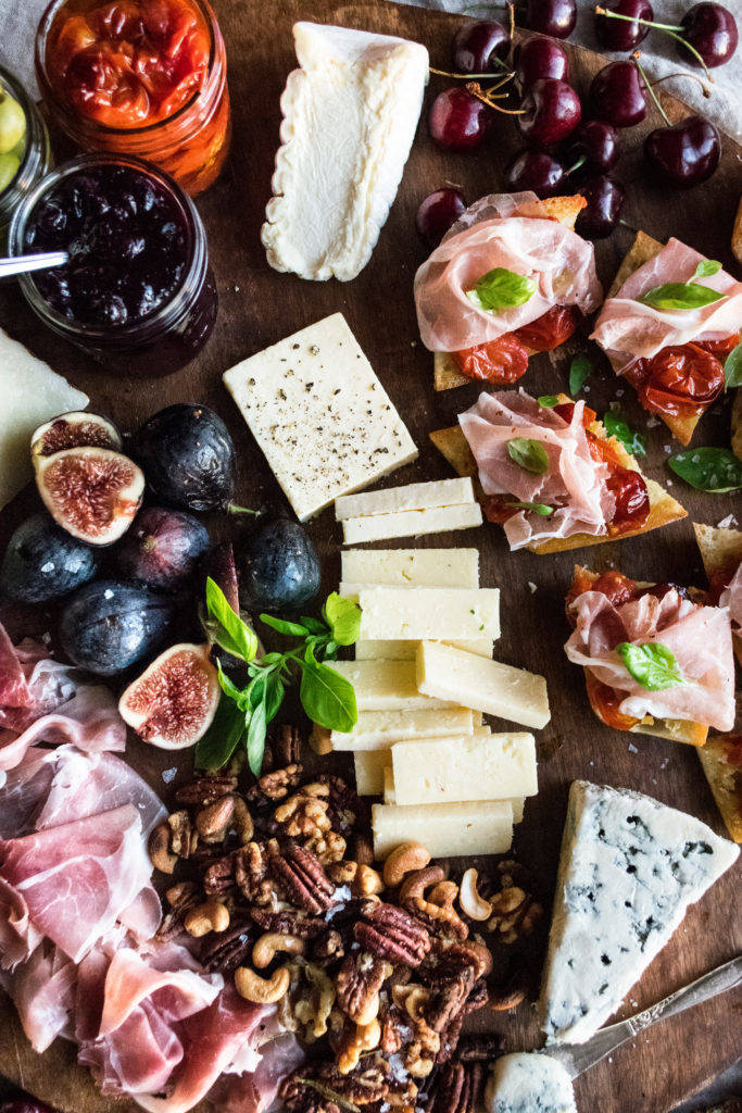 Summer Cheese & Charcuterie Picnic Board