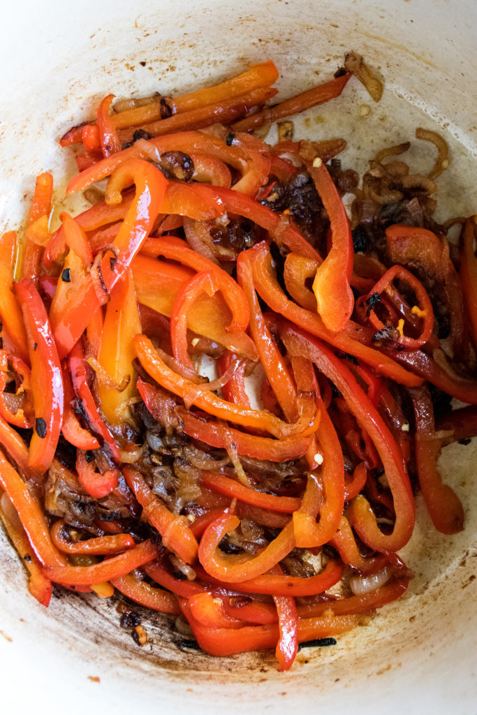 caramelized peppers