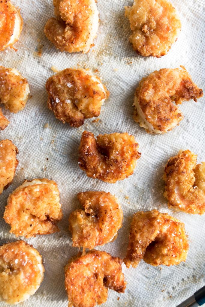 crispy pan-fried coconut shrimp