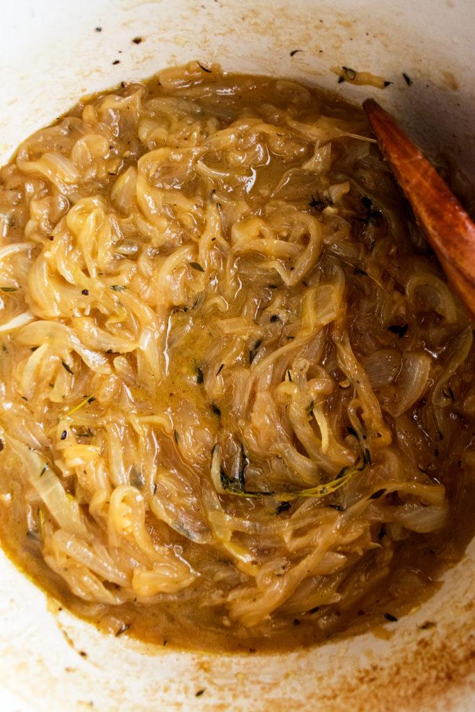 Beer Braised Onion & Cheddar Dip