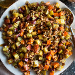 Candied Bourbon Pecan Sweet Potatoes