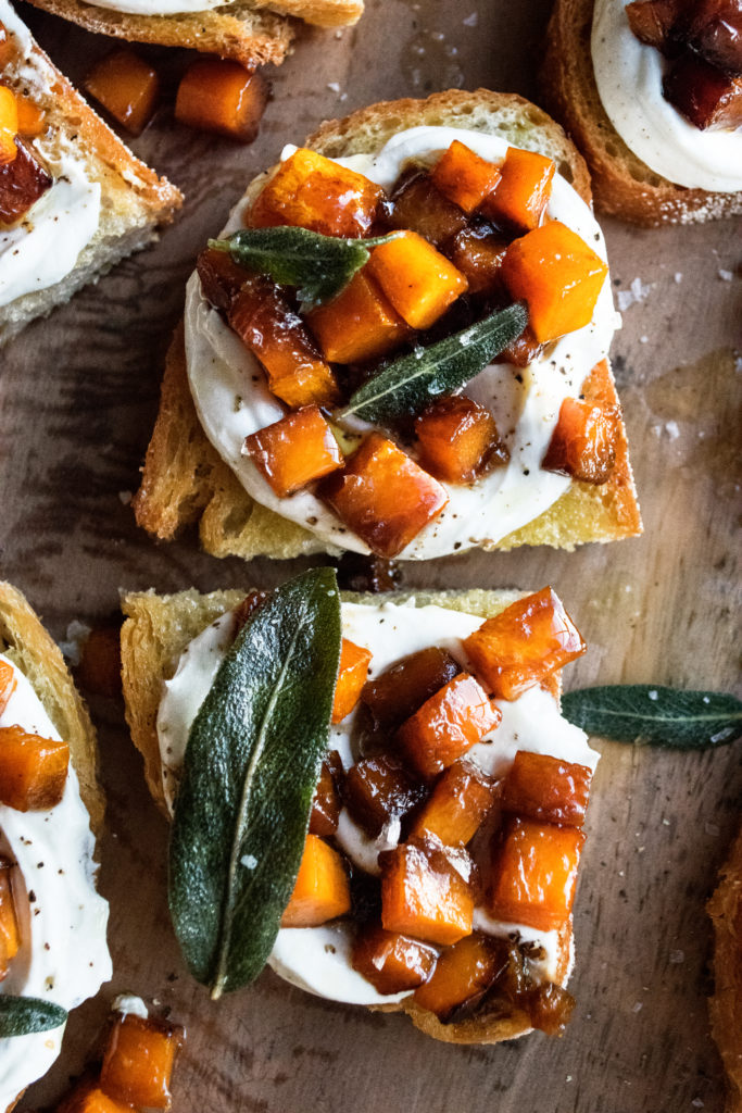 Caramelized Butternut Squash Toast