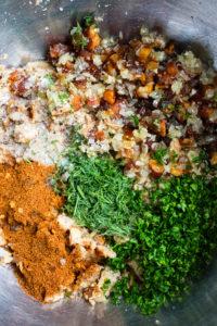 chicken meatball mixture