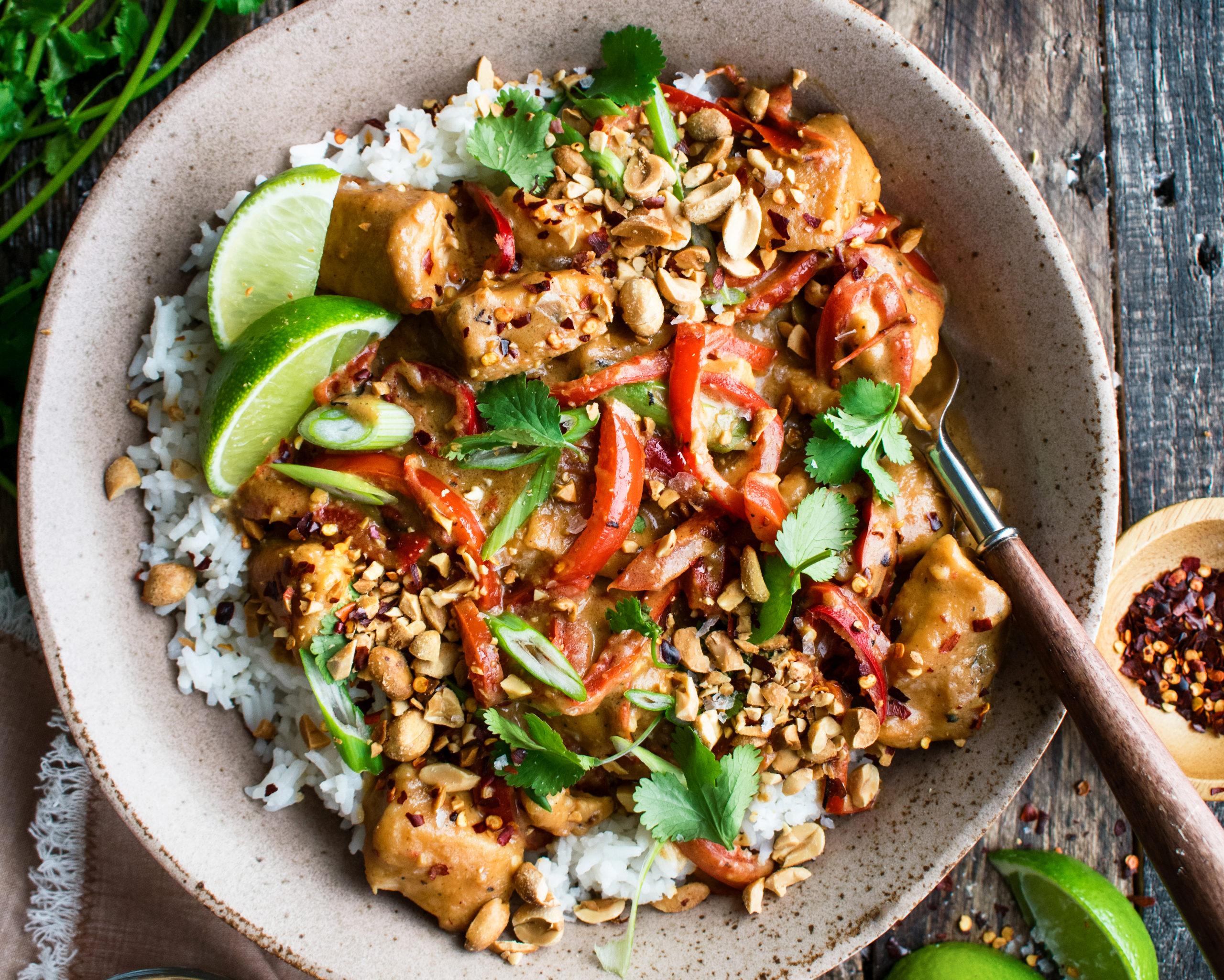 Spicy Thai Peanut Chicken - The Original Dish