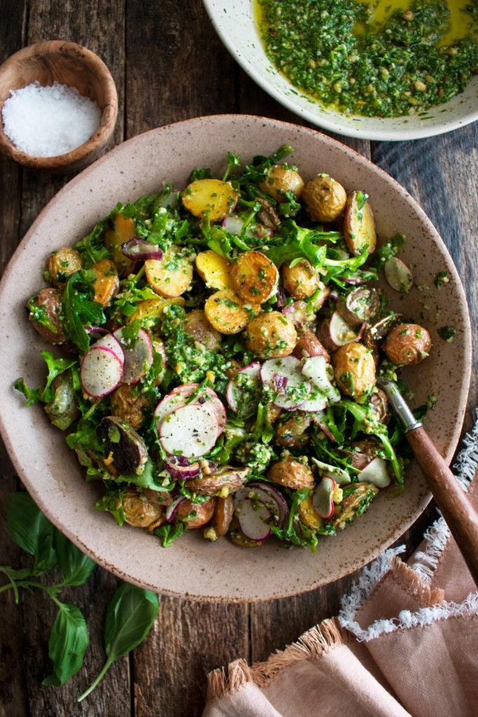 Arugula Pesto Potato Salad