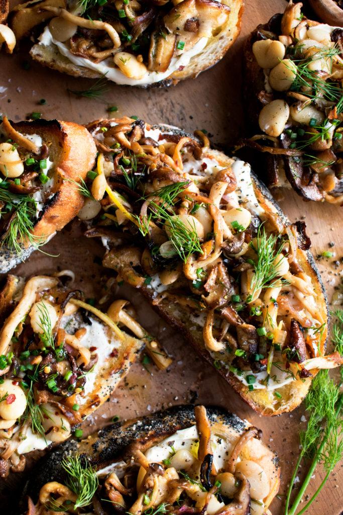 Mushroom Mascarpone Toast