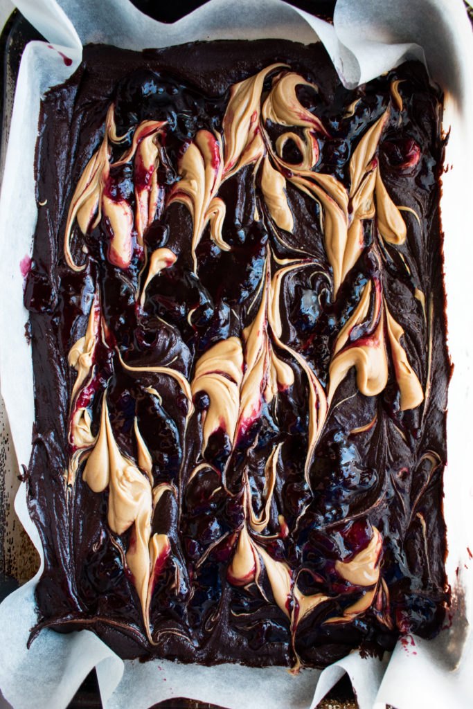 Peanut Butter and Jelly Brownies