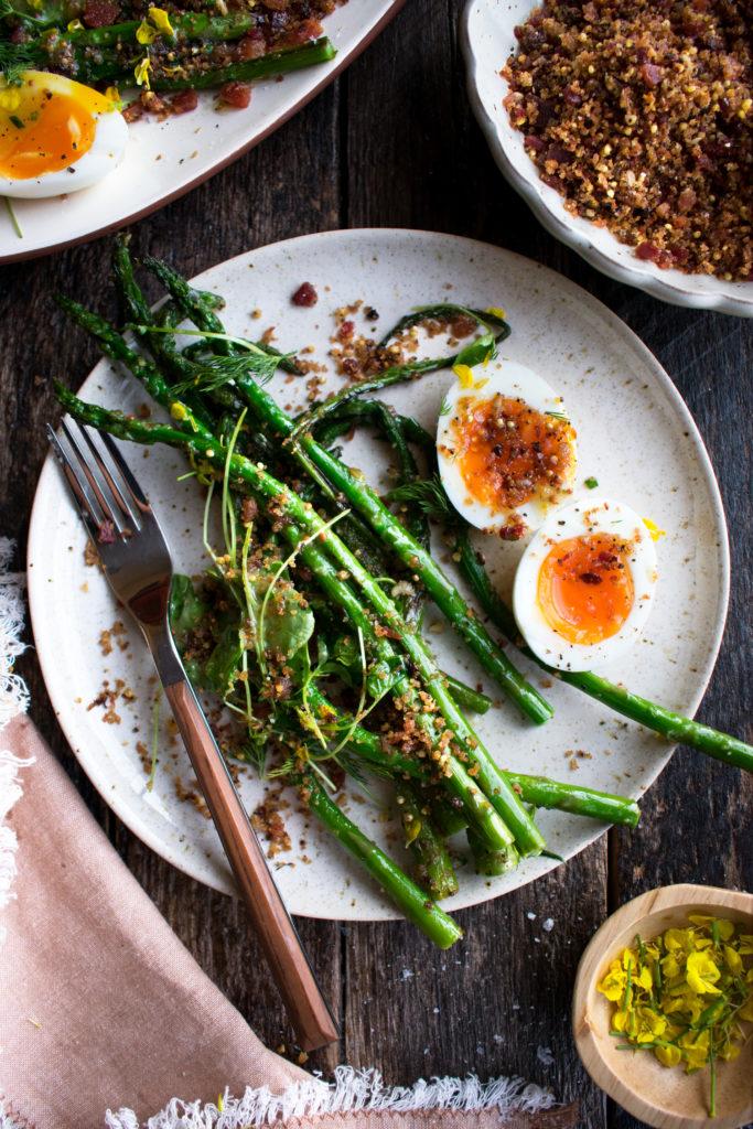 Charred Asparagus with Horseradish Vinaigrette