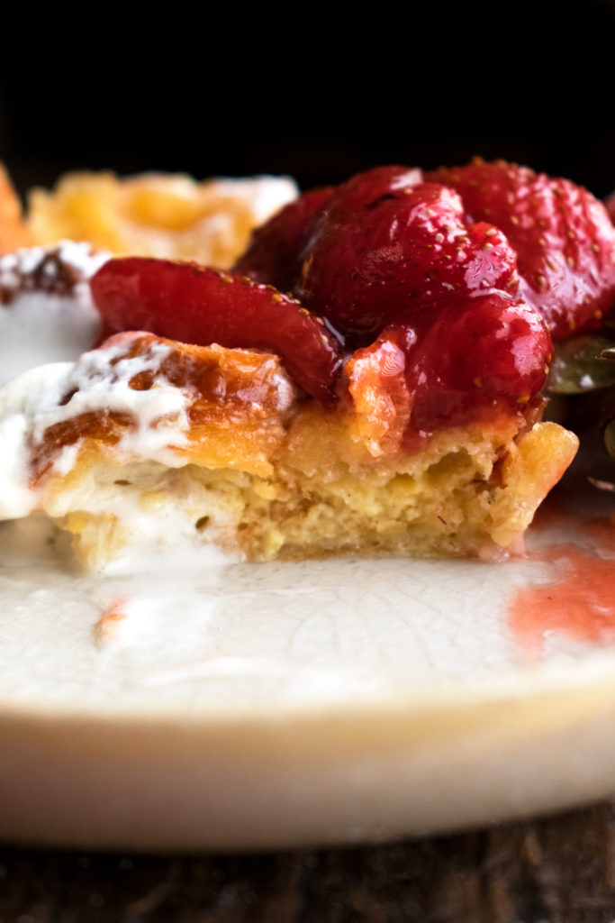 Skillet Croissant Bread Pudding