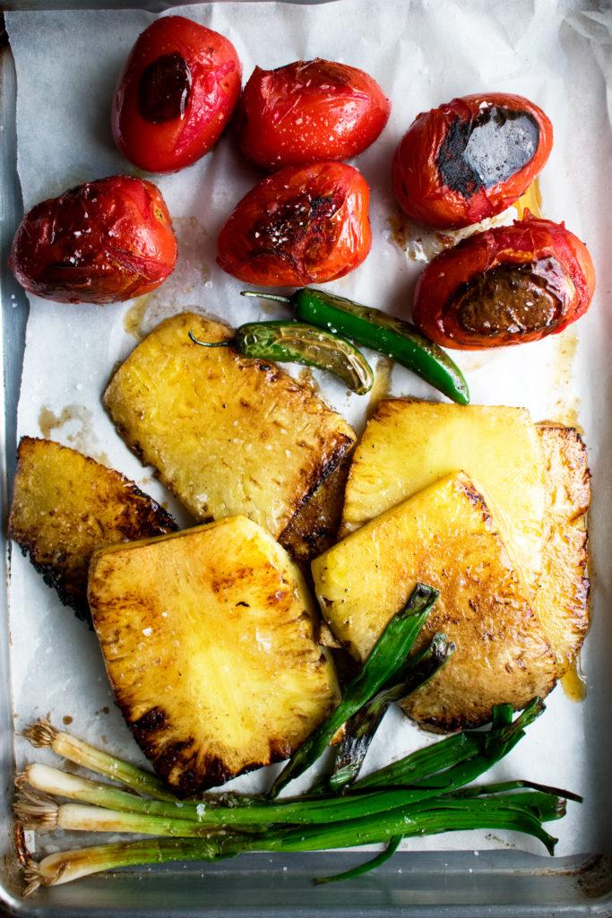 salsa ingredients after cooking