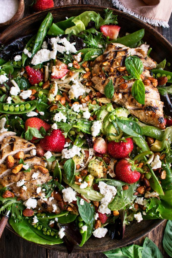 Strawberry & Avocado Grilled Chicken Salad