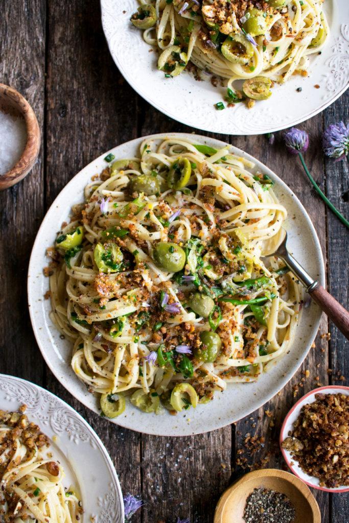 Green Olive Linguine