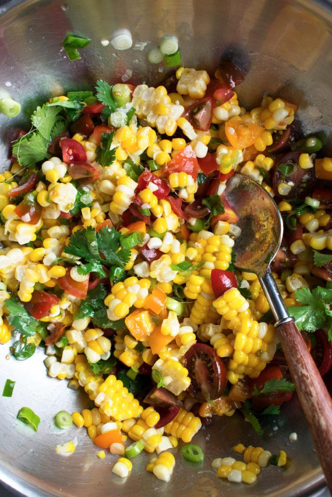 corn salad mixed