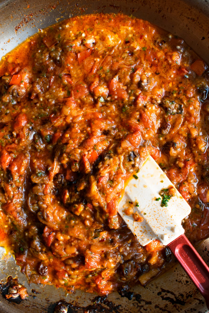 Charred Eggplant Pasta