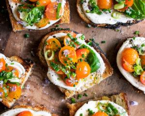 Marinated Tomato Toast