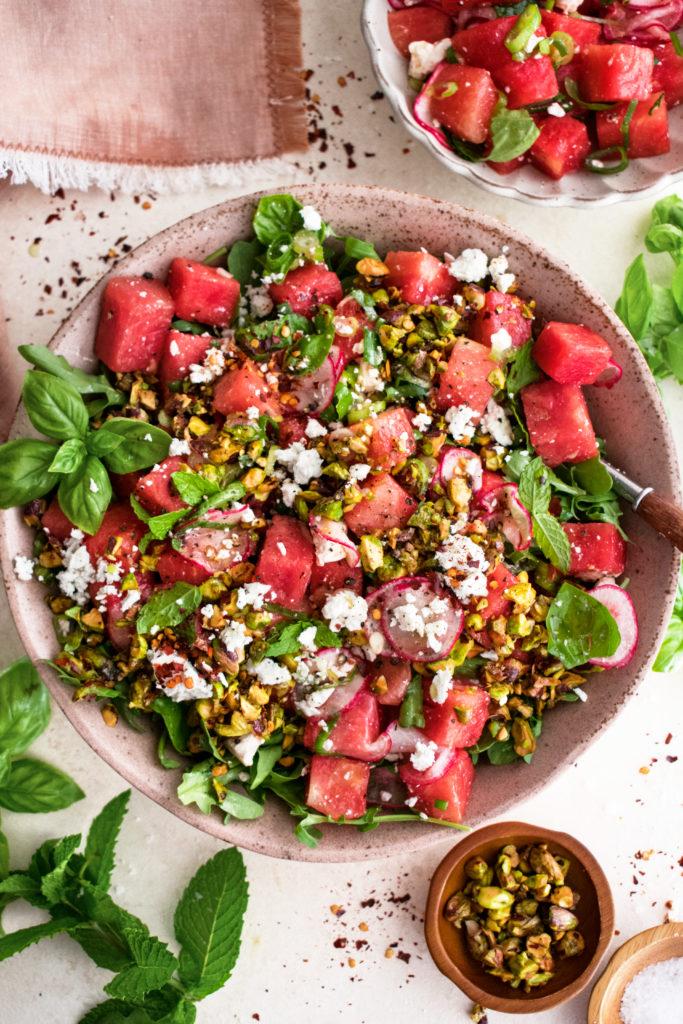 Watermelon Arugula Salad with Feta