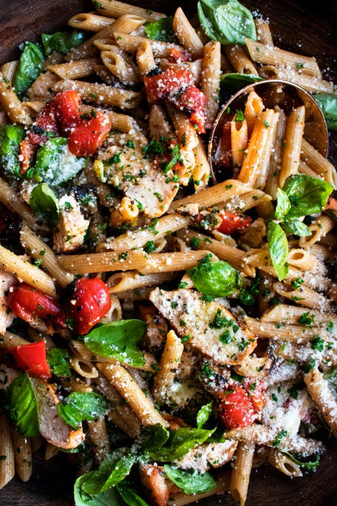 Weeknight Grilled Chicken Pasta Salad