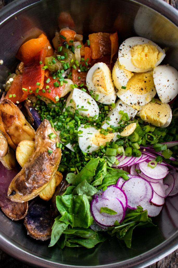 Grilled Pepper Potato Salad