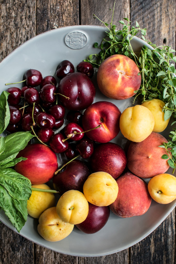 Marinated Stone Fruit Caprese Salad