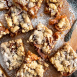 Caramelized Cinnamon Apple Crumb Bars